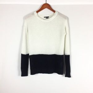 Vince loose weave crew neck color block sweater